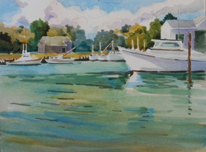 Deep Creek Marina, 9x12 inches, 2015